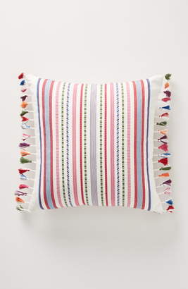 Anthropologie Rosado Stripe Tassel Accent Pillow
