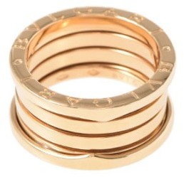 Bvlgari  Bulgari B-Zero1 18K Yellow Gold Band Ring Size 5.75