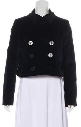 Alexander McQueen Velvet Cropped Jacket