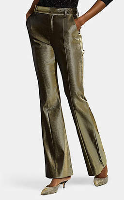 Area Women's Lamé Flared Trousers - Gold
