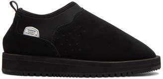 Suicoke Black Suede Ron-M Mid Boots