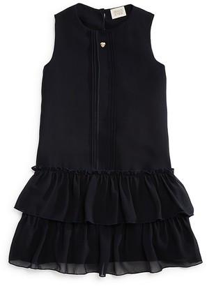 Armani Junior Girls' Ruffle Hem Dress - Little Kid, Big Kid $185 thestylecure.com