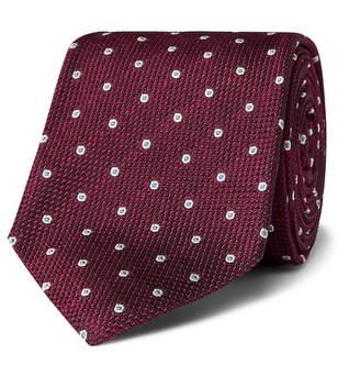 Drakes Kingsman + Drake's 8cm Polka-Dot Silk-Jacquard Tie