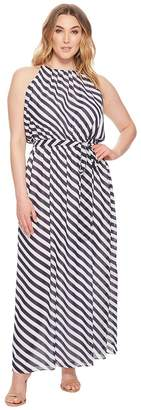 MICHAEL Michael Kors Size Chain Neck Maxi Dress Women's Dress