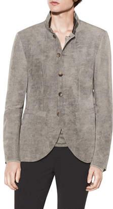 John Varvatos Men's Stand-Collar Slim-Fit Soft Jacket