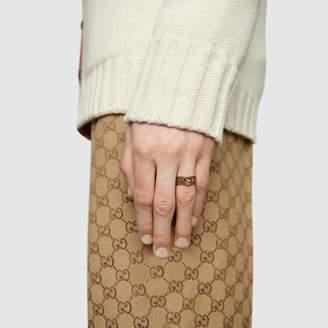 Gucci Yellow gold ring with InterlockingG