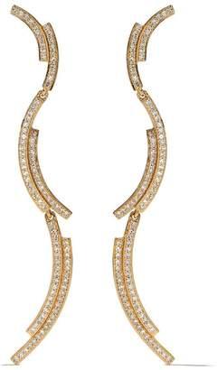 Astley Clarke 14kt yellow gold large Icon Scala diamond drop earrings