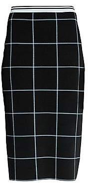 Marni Women's Bicolor Windowpane Knit Pencil Skirt