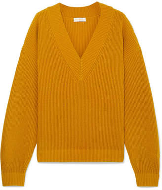 Tory Burch Ribbed Wool And Cashmere-blend Sweater