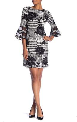 Sandra Darren 3\u002F4 Length Sleeve Printed Dress