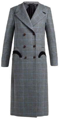 Blazé Milano Blaze Milano - Phar Lap Houndstooth Wool Coat - Womens - Light Blue