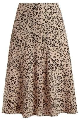 Altuzarra Caroline Leopard Print Skirt - Womens - Leopard