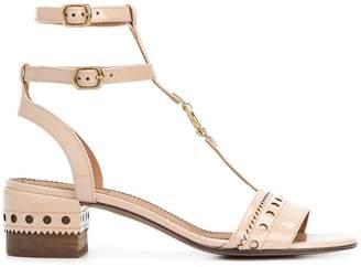 Chloé T-bar block heel sandals