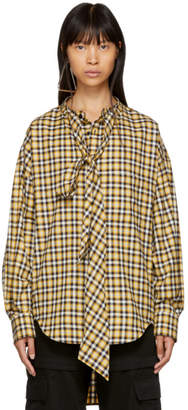 Balenciaga Yellow Plaid New Swing Shirt