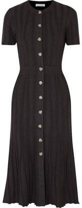 Altuzarra Abelia Ribbed Stretch-knit Midi Dress - Black