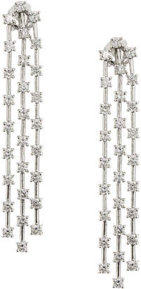 Neiman Marcus Diamonds 14k Triple-Strand Dangling Diamond Drop Earrings, 3.0tcw