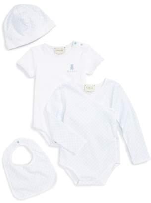 Gucci Short Sleeve Bodysuit, Long Sleeve Bodysuit, Hat & Bib Set