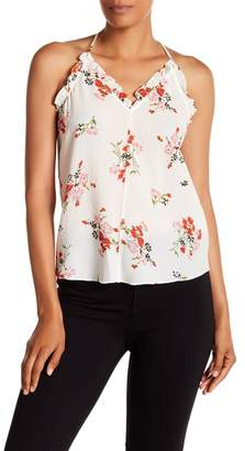 Rebecca Taylor Sleeveless Marguerite Floral Print Silk Blend Tank Top