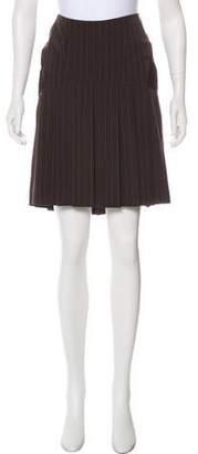 Jean Paul Gaultier Wool Striped Skirt Suit