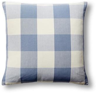 Barclay Butera Checkered 22x22 Pillow - Blue/White