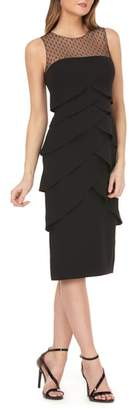 JS Collections Crepe Cocktail Midi Dress