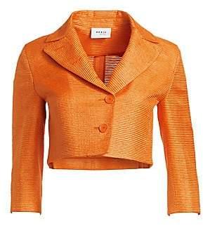 Akris Punto Women's Cropped Silk Jacket