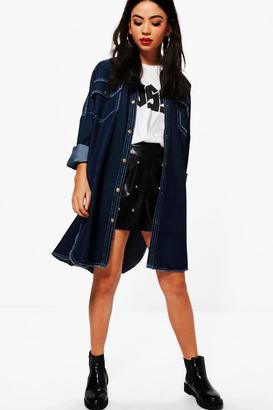 boohoo Sharon Oversized Denim Jacket