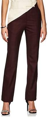 Calvin Klein Women's Plaid Wool Straight Trousers