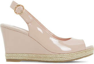 Dune Klick espadrille trim leather sandal