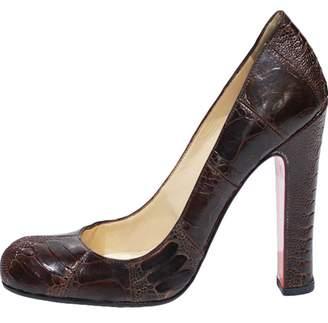 Christian Louboutin Brown Crocodile Heels