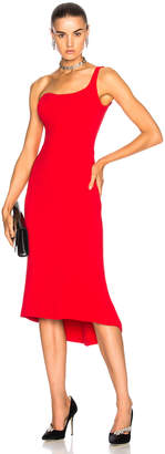 Oscar de la Renta for FWRD One Shoulder Cocktail Dress in Red | FWRD