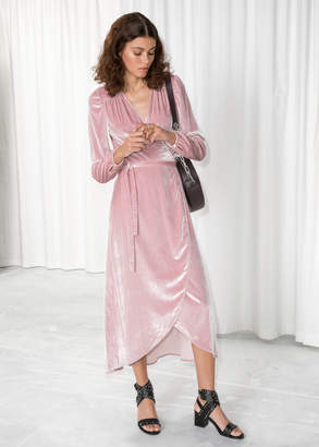 And other stories Velvet Wrap Dress