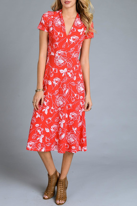 Gilli Red Floral Sundress $36 thestylecure.com