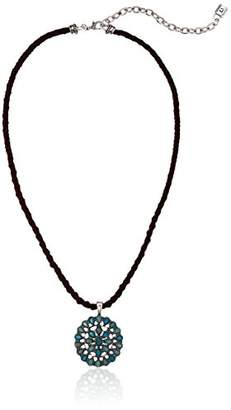 Chaps Women's Conch Stone Cord Pendant Necklace