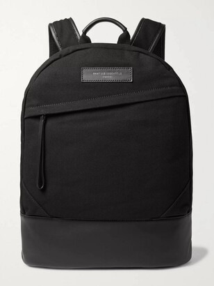WANT Les Essentiels Kastrup Leather-Trimmed Shell Backpack - Men - Black