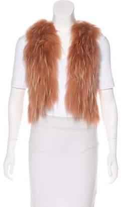 J. Mendel Fur Cropped Vest