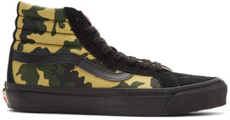 Vans Black and Green Camo OG SK8-Hi Lx High-Top Sneakers