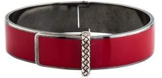 Bottega Veneta Enamel Hinged Bracelet