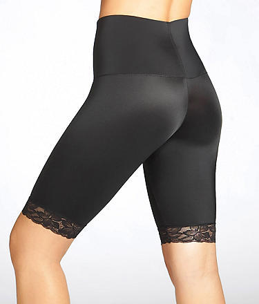 Nancy Ganz Firm Control Thigh Slimmer with Belly Band Waistband and Lace Hem Shapewear