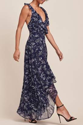 BB Dakota Kelli Wrap-Maxi Dress