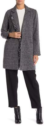 MELLODAY Tweed Notch Collar Topper Jacket