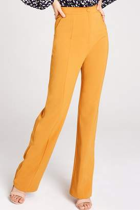 Girls On Film Mustard Tailored Trousers