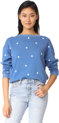 Wildfox Football Star Sweatshirt $118 thestylecure.com