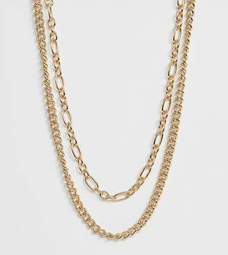 Liars & Lovers Exclusive gold chunky chain 2 pack necklaces
