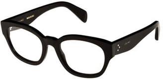 Celine Rectangle Acetate Optical Frames, Black