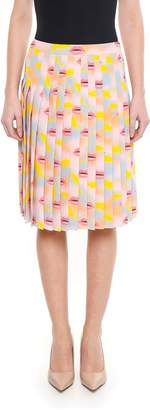 Prada Crepe De Chine Lips Skirt