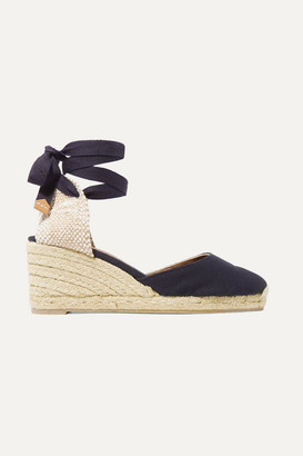 Castaner Carina 60 Canvas Wedge Espadrilles - Navy
