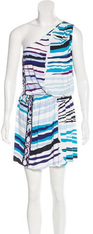 Emilio PucciEmilio Pucci One-Shoulder Jersey Knit Dress