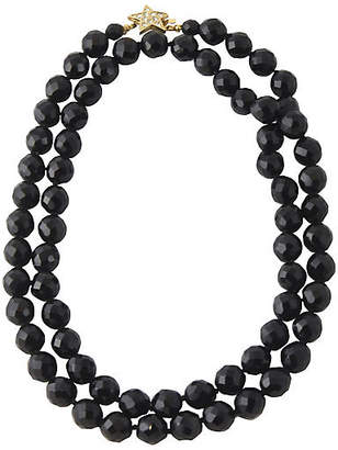 One Kings Lane Vintage Star & Black Crystal Necklace by Carolee