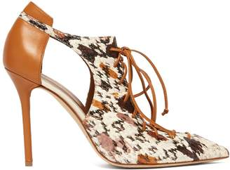 Malone Souliers BY ROY LUWOLT Montana snakeskin and leather pumps